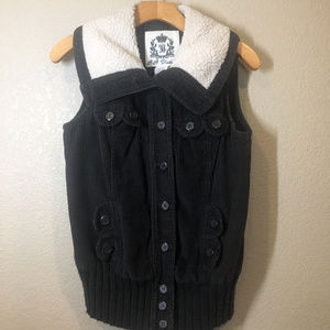 BB Dakota button down Faux fur vest